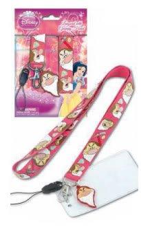 Lanyard w/Dangle Keychain - Disney - Snow White - Grumpy Gifts Toys New 24627