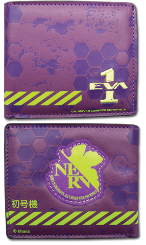 Wallet - Evangelion - New Eva Unit 01 Nerv Anime Gifts Licensed ge61617