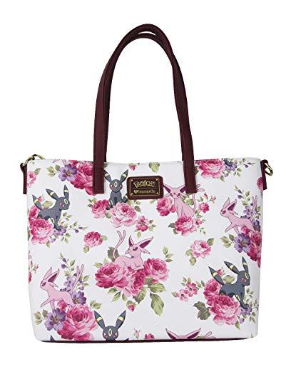 Espeon Umbreon Floral New pmtb0075 Pokemon Tote Bag