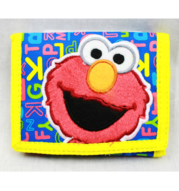Trifold Wallet - Sesame Street - Elmo ABC Reading New Gift Toys Licensed ss16389