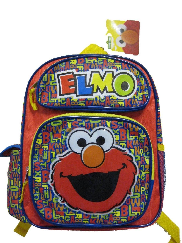 "Small Backpack - Sesame Street - Elmo 12"" School Bag New 097671"
