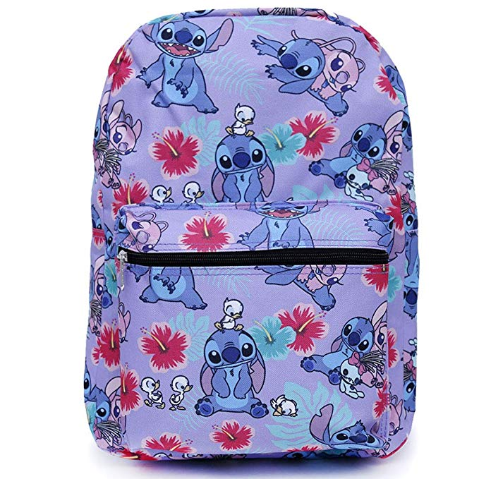 Backpack-Dsiney-Lilo-amp-Stitch-Purple-All-over-16-034-New-000158