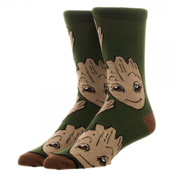 Crew Socks - Marvel - Guardians of the Galaxy Groot Large Al